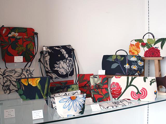 hana ヨブス工房 スウェーデン テキスタイル 生地 ハンドプリント バッグ ファッション雑貨 オールドアンドニュー
